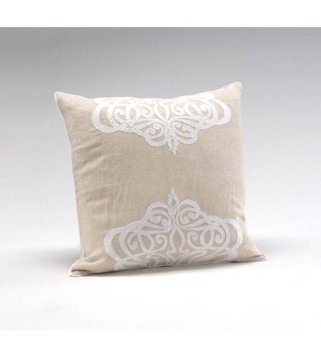 Wildwood Lamps Decorum by Mary Taylor Wheat Linen With Applique Platinum Medallion - Feather/Down Filling 294708 photo
