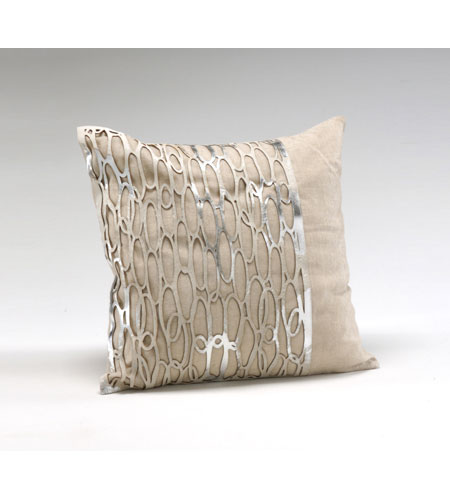 Wildwood Lamps Decorum by Mary Taylor Lurix Linen With Hairon Laser Cut Platinum Cowhide - Feather/Down Filling 294712 photo