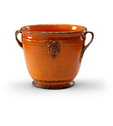 Wildwood Lamps Italia Rustica Planter Decorative Accessory in Antique Persimmon Glaze 295182 photo