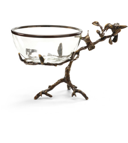 Wildwood Lamps Miscellaneous Hummingbirds On Branch Cast Brass With Old Bronze Patina Decorative Accessory in Old Bronze Patina 300517 photo