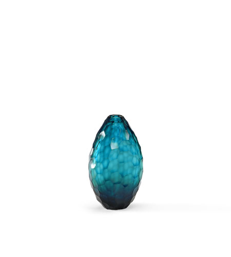 Wildwood Lamps Discovery Art Glass Vase in Blue Hues 300537 photo