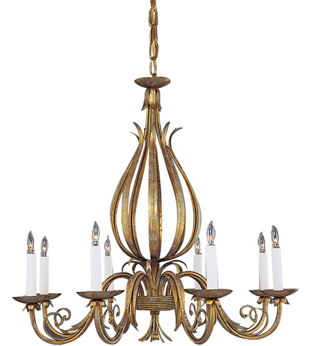Wildwood Lamps Gold And Scrolls Chandelier in Florentine Iron Art 347 photo