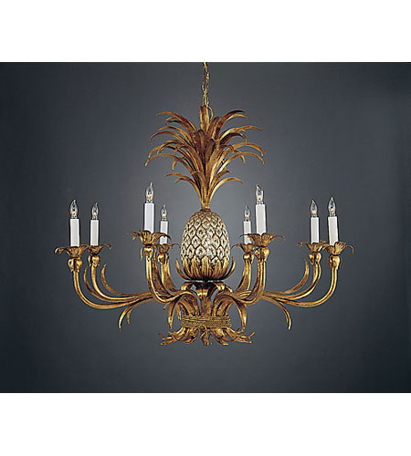 Wildwood Lamps Pineapple Chandelier In Florentine Iron Art 352