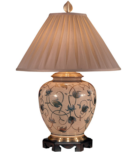 Wildwood Lamps Leaf And Scroll Table Lamp in Hand Painted Kutaniware 3646 photo