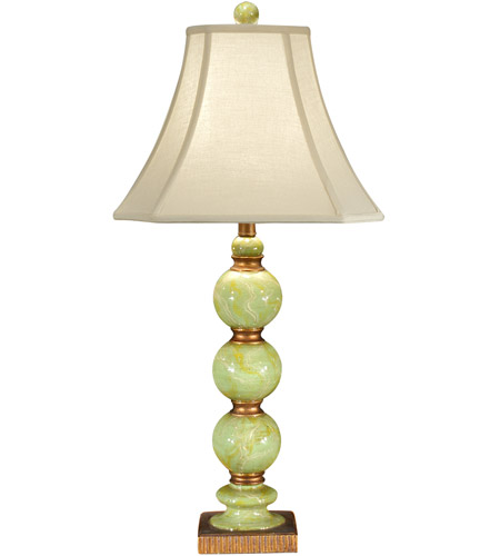 Wildwood Lamps 46143 Marble 32 inch 100 watt Hand Colored Fauxstone With Old Gold Table Lamp Portable Light photo