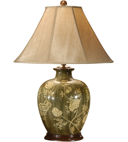 Wildwood Lamps 46389 Flowers 31 inch 100 watt Hand Painted Acrylic Lacquer Table Lamp Portable Light photo