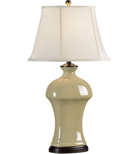 Wildwood Lamps Broad Shoulders Table Lamp in Antique Crackle Glaze Porcelain 46452 photo