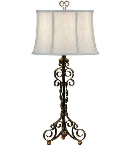 Wildwood Lamps Curly Iron Table Lamp in Antique Patina 46462 photo