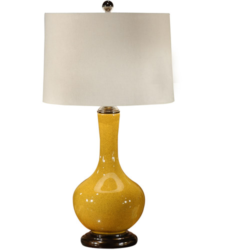 Wildwood Lamps Water Bottle Table Lamp in Crackle Mustard Glaze 46495 photo