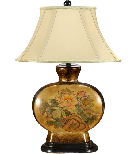 Wildwood Lamps Oriental Flowers Table Lamp in Hand Painted Porcelain 46531 photo