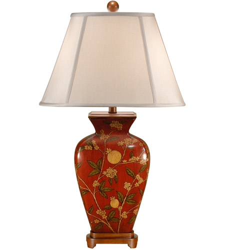 Wildwood Lamps Forbidden Fruit Table Lamp in Hand Painted Porcelain 46603 photo