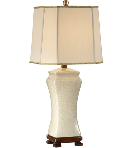 Wildwood Lamps Old White Table Lamp in Hand Glazed Crackle Porcelain 46629 photo