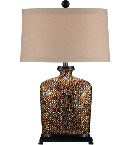 Wildwood 46636 Bumpy 27 inch 100 watt Hand Made And Decorated Ceramic Table Lamp Portable Light photo