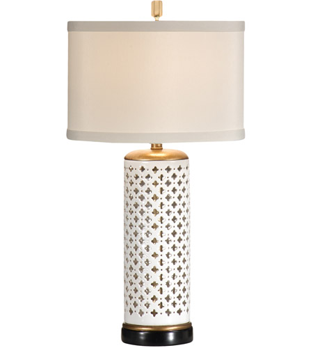 Wildwood Lamps Pierced Clubs Table Lamp in Black With Gold Mounting 46646 photo