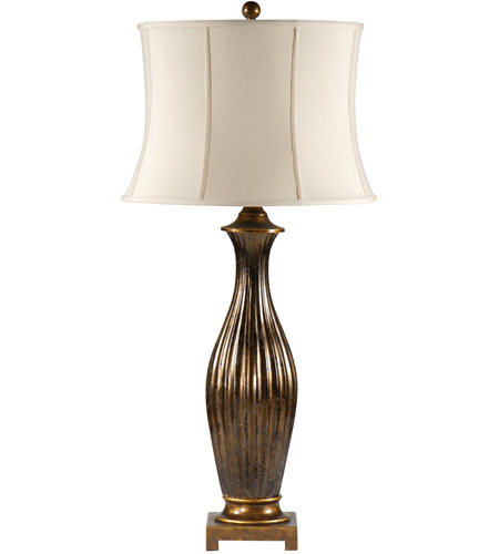Wildwood Lamps Slender Flutes Table Lamp in Speckled Gold On Ceramic 46647 photo