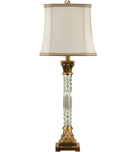 Wildwood 46655 Crystal 33 inch 100 watt Brass Table Lamp Portable Light  photo