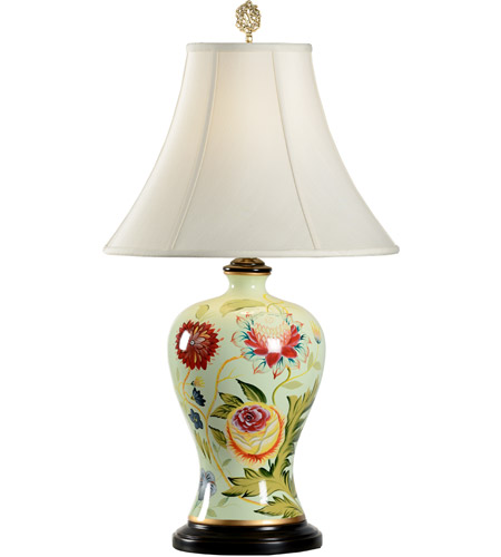 Wildwood Lamps 46673 Flowers 29 Inch 100 Watt Hand Painted Acrylic Table  Lamp Portable Light