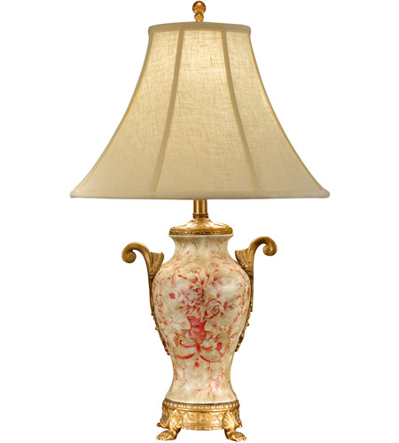 Perfect Wildwood Lamps Simple Toile Table Lamp In Hand Painted Acrylic On Porcelain  46748 Photo