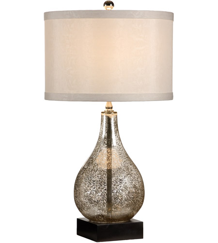 wildwood lamps mercury glass table lamp in antiqued glass 46785. Black Bedroom Furniture Sets. Home Design Ideas