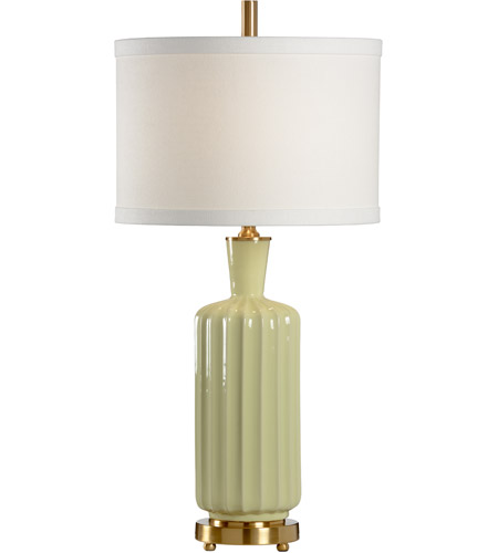 Wildwood Lamps Ribs Ribs Table Lamp in Glazed Porcelain With Designer Color 46869 photo