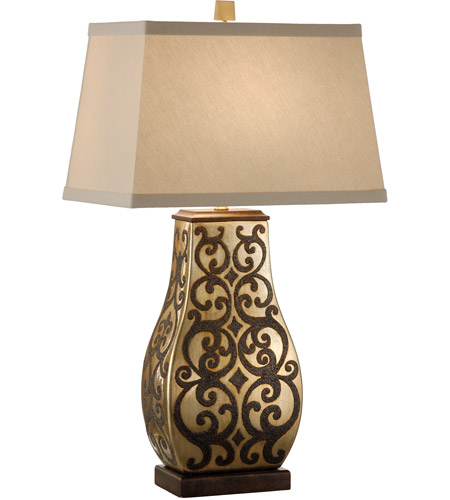 Wildwood Lamps Paired Seraphs Table Lamp in Antique Gold On Porcelain 46883 photo