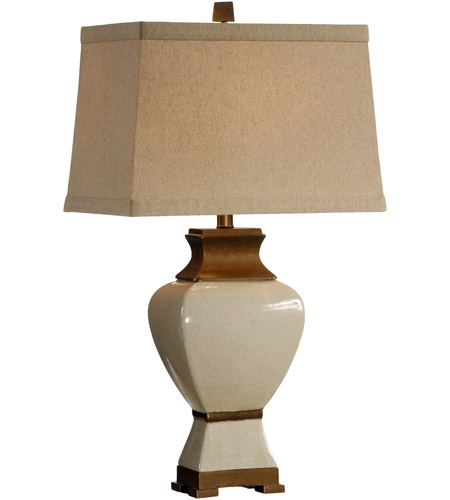 Wildwood Lamps Classic Squares Table Lamp in Hand Decorated Crackle Glaze Fired Porcelain 46887 photo