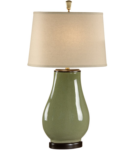 Wildwood Lamps Round To Square Table Lamp in Crackle Glaze Fired Porcelain 46888 photo