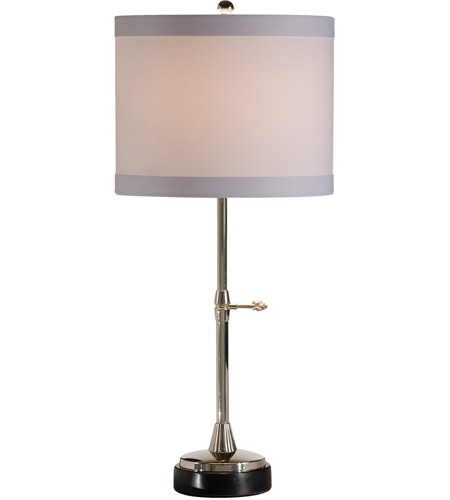 Wildwood Lamps Slender Stick Table Lamp in Polished Nickel Finish 46889 photo