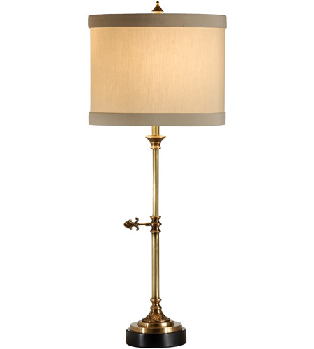 Wildwood Lamps 46890 Complex Key 27 inch 60 watt Antique Brass Table Lamp Portable Light photo