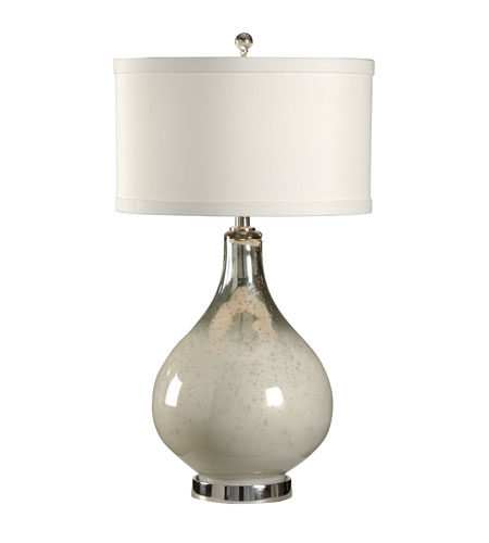 Wildwood Lamps 46917 MarketPlace 33 inch 100 watt Polished Nickel Accents Table Lamp Portable Light photo