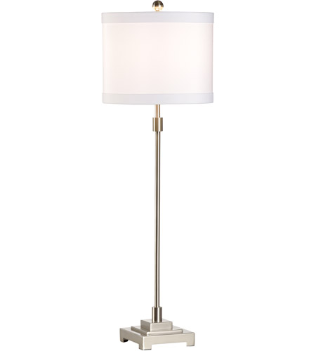 Wildwood 46932 Tall Rod 33 inch 100 watt Nickel Table Lamp Portable Light photo