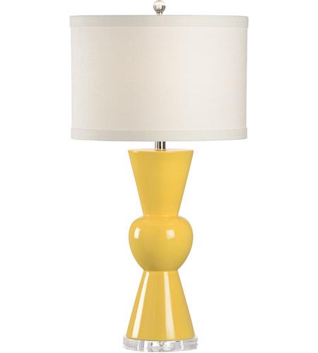 Wildwood 46964 Marketplace 32 Inch 100 Watt Sunflower Yellow Glaze Table Lamp Portable Light