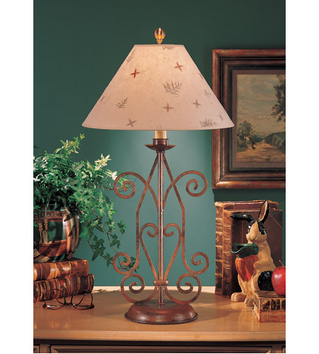 Wildwood Lamps Iron Angles Table Lamp in Art Glaze Florentine Iron 4717 photo