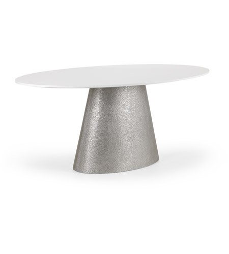 Wildwood 490519 Wildwood 72 X 30 Inch White Textured Silver Dining Table