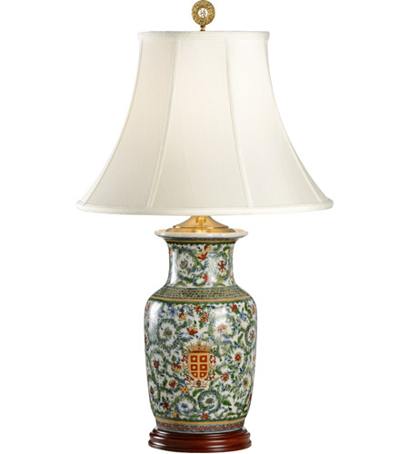 Wildwood lamps herald hiding table lamp in hand painted crackle wildwood lamps 5196 herald hiding 31 inch 100 watt hand painted crackle porcelain table lamp portable mozeypictures Images