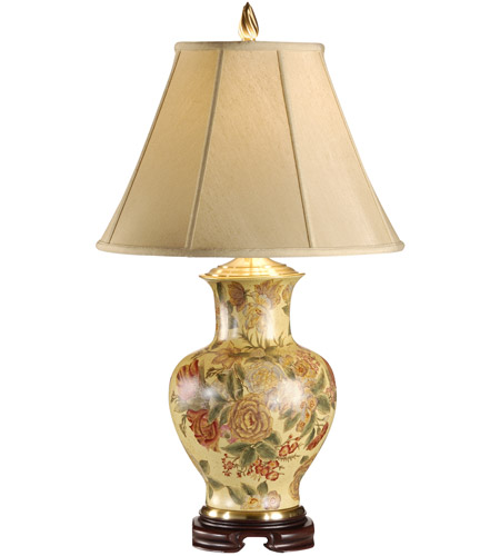 Wildwood Lamps 5329 Flowers 31 inch 100 watt Hand Painted On Porcelain Table Lamp Portable Light photo