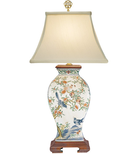 Wildwood lamps pom n bird table lamp in hand painted porcelain 5677 wildwood lamps 5677 birds 25 inch 60 watt hand painted porcelain table lamp portable light photo mozeypictures Images