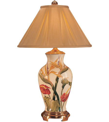 Wildwood Lamps Bird Of Paradise Table Lamp In Hand Painted Crackle Porcelain 5808