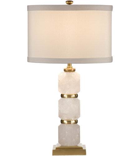 Wildwood Lamps Rock Diamonds Table Lamp in Antiqued Solid Brass 60002 photo