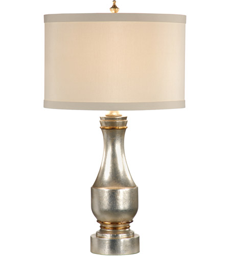 Wildwood Lamps 60005 Silver 30 inch 100 watt Aged Silver Leaf With Gold Accents Table Lamp Portable Light photo