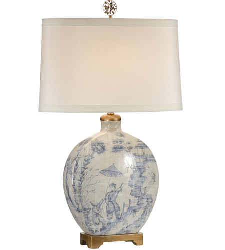 Ordinaire Wildwood Lamps 60023 Ancient Snuff 30 Inch 100 Watt Hand Painted Porcelain  Table Lamp Portable Light