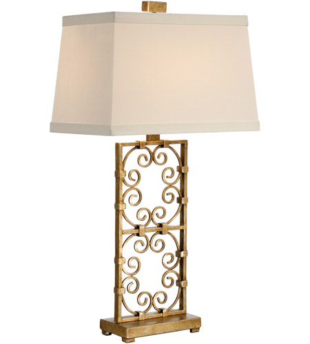 Wildwood Lamps Captured Curleycues Table Lamp in Aged Gold Leaf 60204 photo
