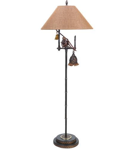 Wildwood Lamps Banana Republic II Floor Lamp in Dark Brown Finish 65017