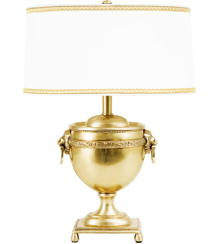 Wildwood Lamps Luther Table Lamp in Antique Brass 65075 photo