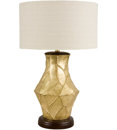Frederick Cooper by Wildwood Lamps Fractura Oro Table Lamp in Gilded Gold Finish 65133 photo