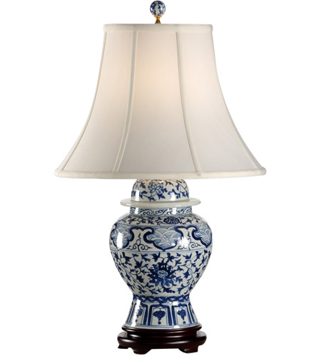 Frederick Cooper by Wildwood Lamps Indigo Garden Table Lamp in Blue And White 65150 photo