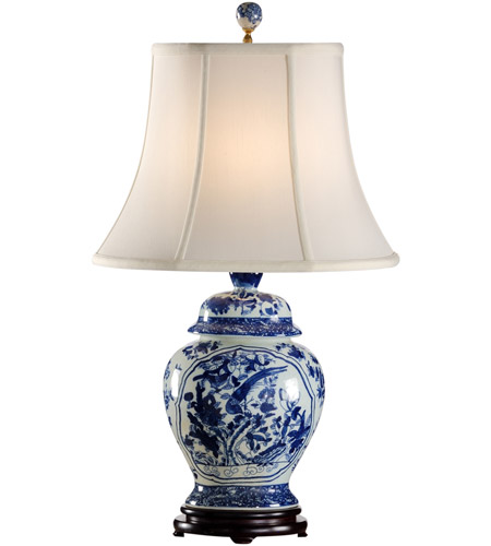 Wildwood Lamps 65151 Fledgling 27 Inch 100 Watt Blue And White Table Lamp  Portable Light Photo