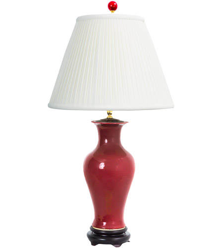 Wildwood Miss Scarlet Table Lamp In Dark Red Finish 65152