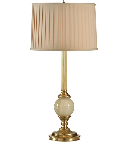 Frederick Cooper by Wildwood Lamps Pendroy Table Lamp in Antique Brass And Green Marble 65177 photo