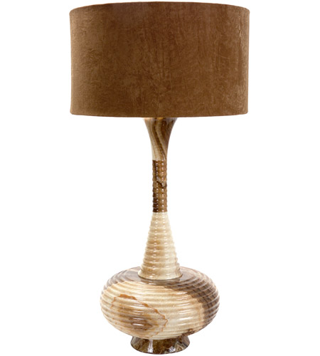 Frederick Cooper by Wildwood Lamps Aladdins Home Table Lamp in Caramel Marble 65179 photo